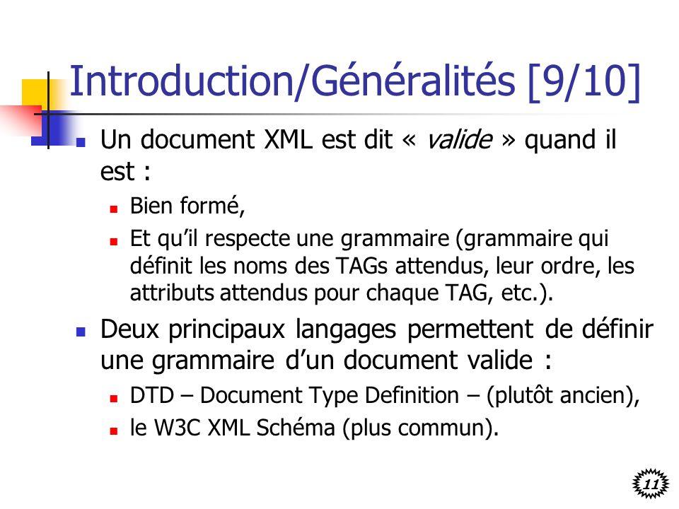 Introduction/Généralités [9/10]